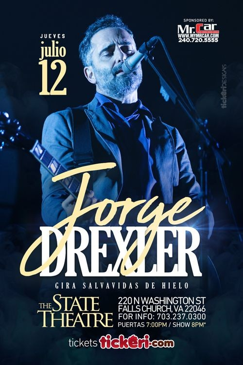 Flyer for Jorge Drexler en Virginia