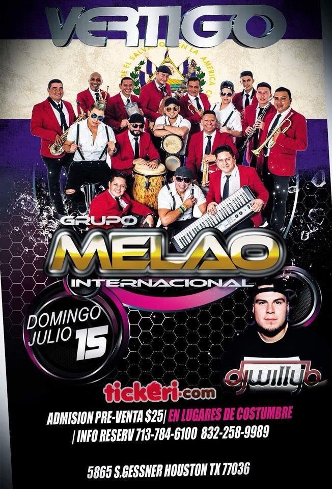 Flyer for Grupo Melao en Houston