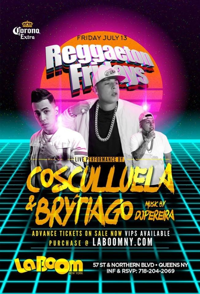 Flyer for Cosculluela y Brytiago