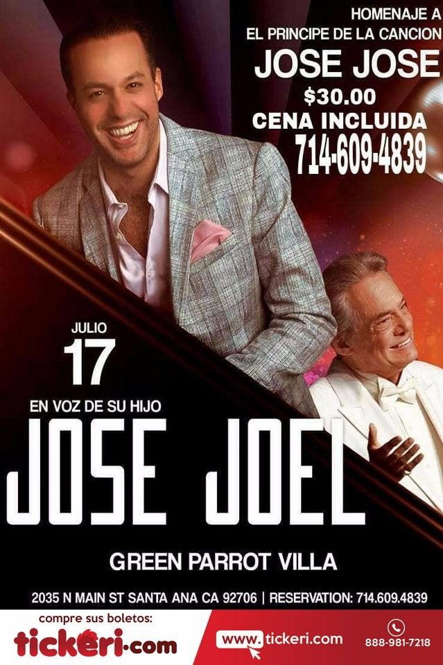 Flyer for JOSE JOEL EN SANTA ANA,CA
