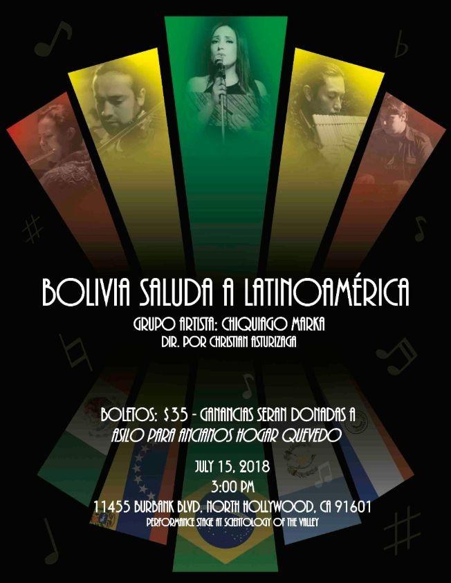 Flyer for Jallalla Chuquiago Project - Bolivia Saluda a Latinoamerica
