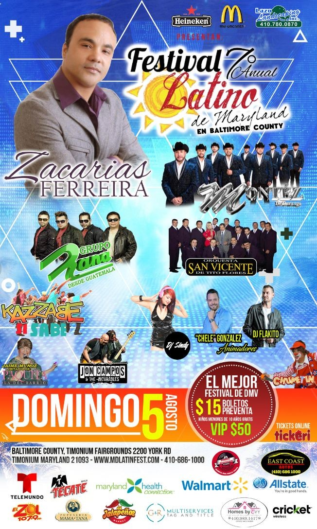 Flyer for 2018 Maryland Latino Festival