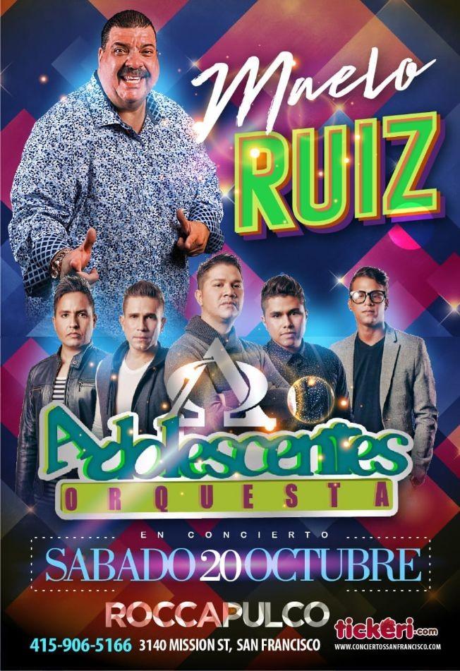 Flyer for Maelo Ruiz y Adolescentes Orquesta en San Francisco