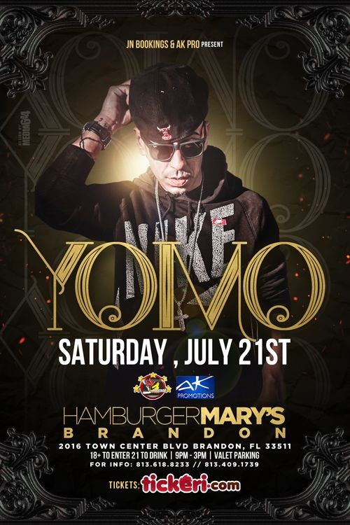 Flyer for Yomo Live In Concert