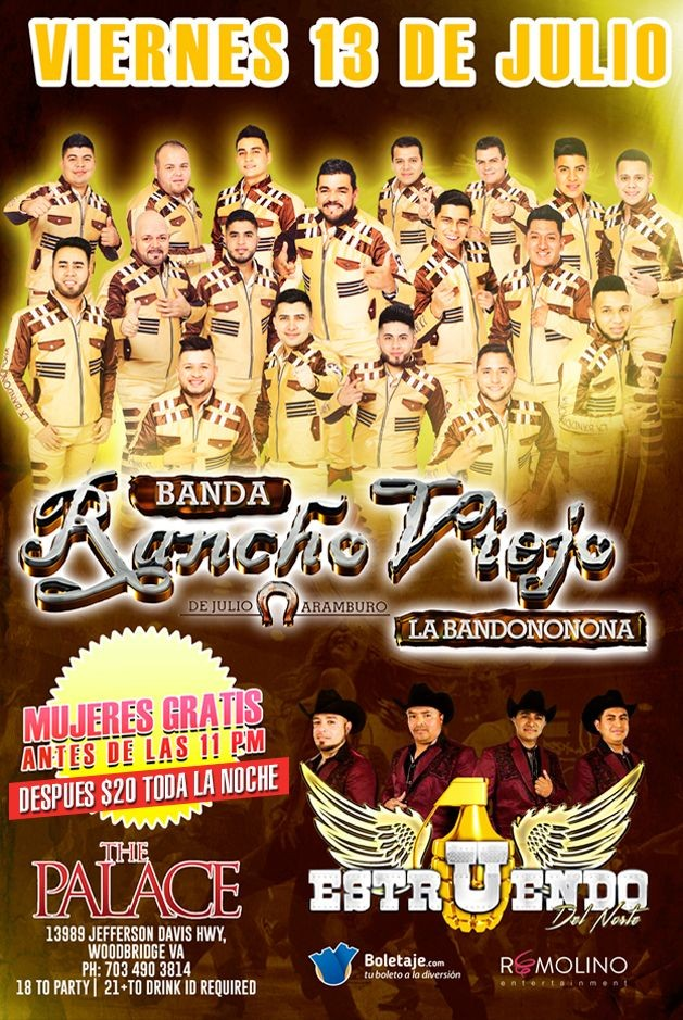 Flyer for Banda Rancho Viejo & Estruendo del Norte en Woodbridge,VA