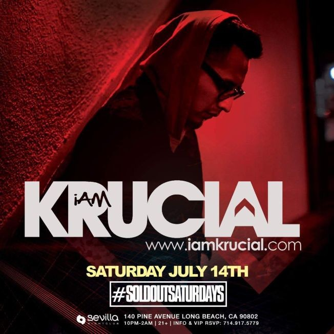 Flyer for SEVILLA #SOLDOUTSATURDAYS PRESENTS --- DEEJAY KRUCIAL| DEEJAY R2RO | DEEJAY REFLECTION | DEEJAY OFFICIAL ---