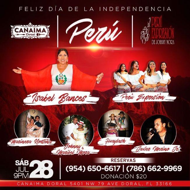 Flyer for FELIZ DIA DE LA INDEPENDENCIA PERU