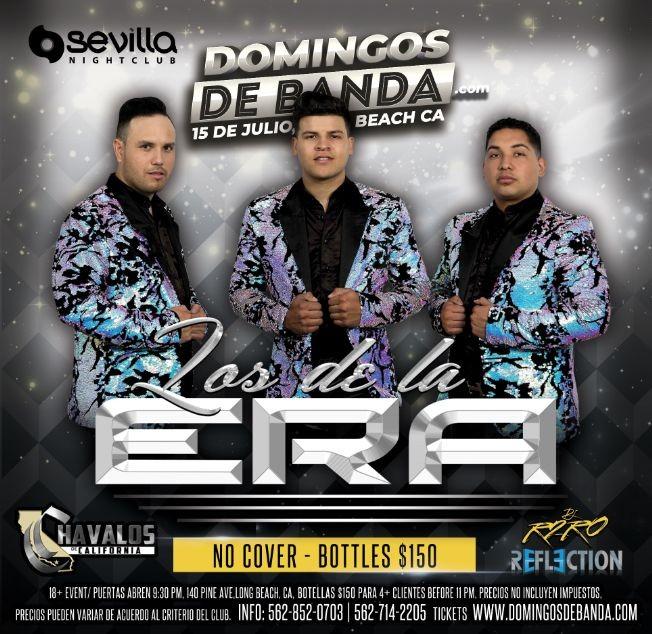 Flyer for SEVILLA #DOMINGOSDEBANDA.COM PRESENTA --- LOS DE LA ERA | LOS CHAVALOS  | DEEJAY REFLECTION | DEEJAY R2RO