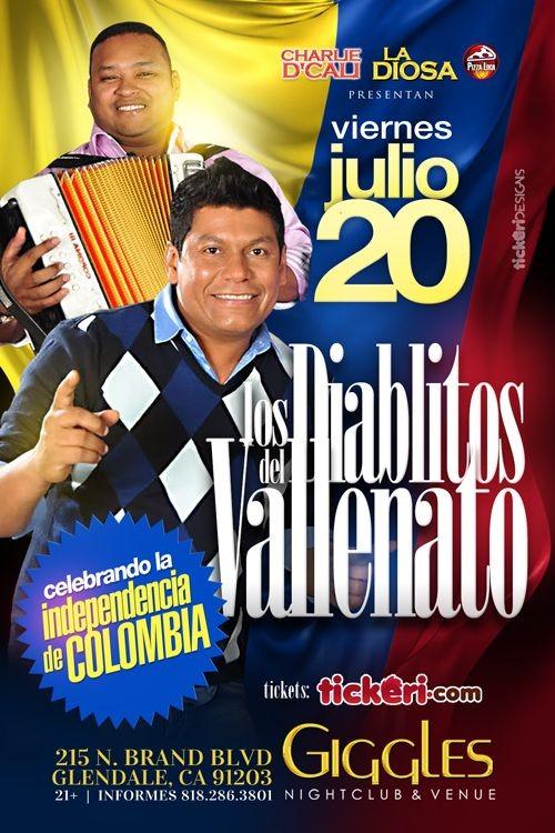 Flyer for LOS DIABLITOS DEL VALLENATO EN LOS ANGELES