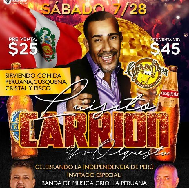 Flyer for SALSA: LUISITO CARRION en CONCIERTO