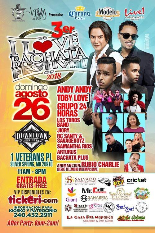Flyer for I LOVE BACHATA FESTIVAL 2018