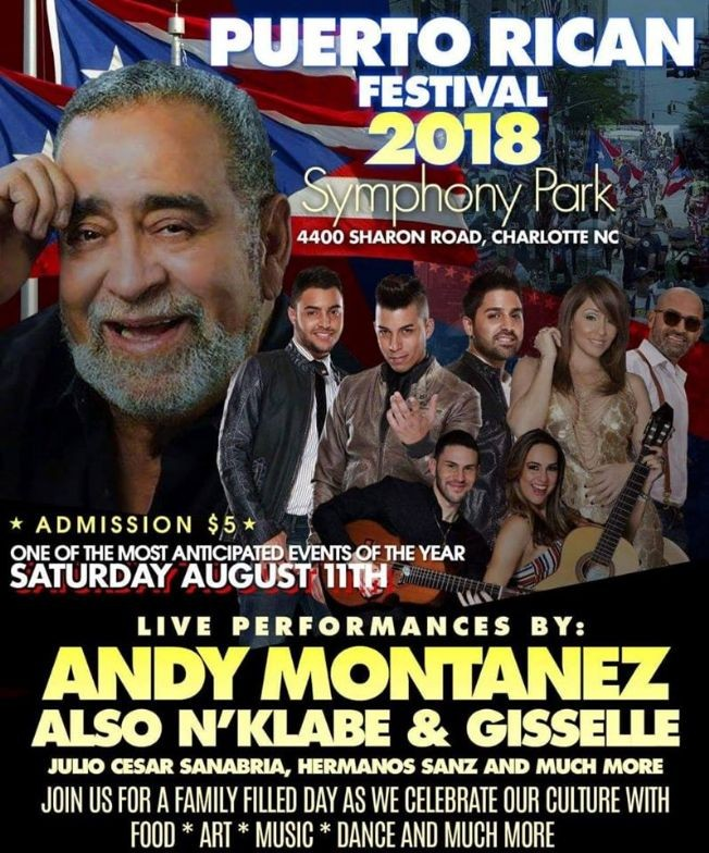 Flyer for Puerto Rican Festival 2018