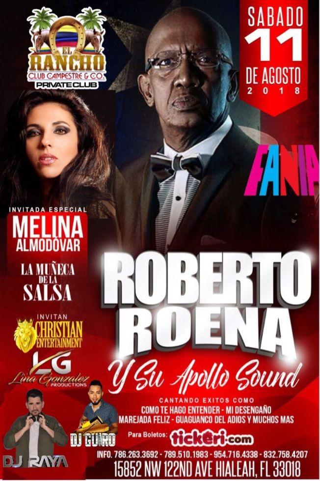 Flyer for Roberto Roena y Su Apollo Sound