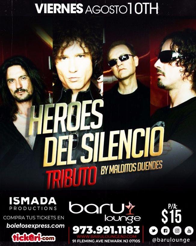 Flyer for Tributo a Heroes del Silencio
