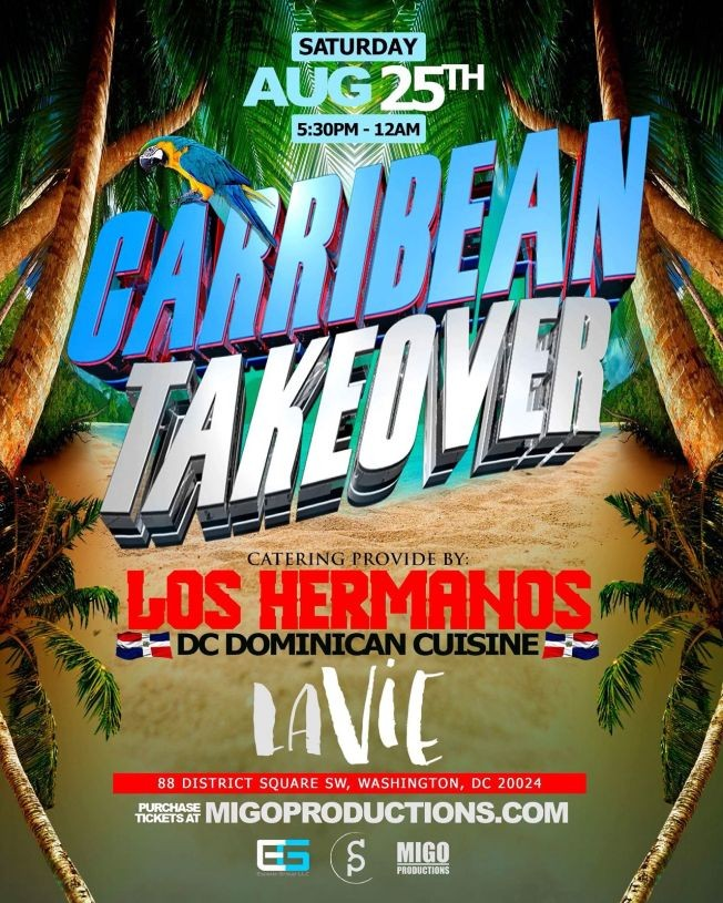 Flyer for Caribbean Takeover at The Penthouse La VIE Rooftop-CANCELLED