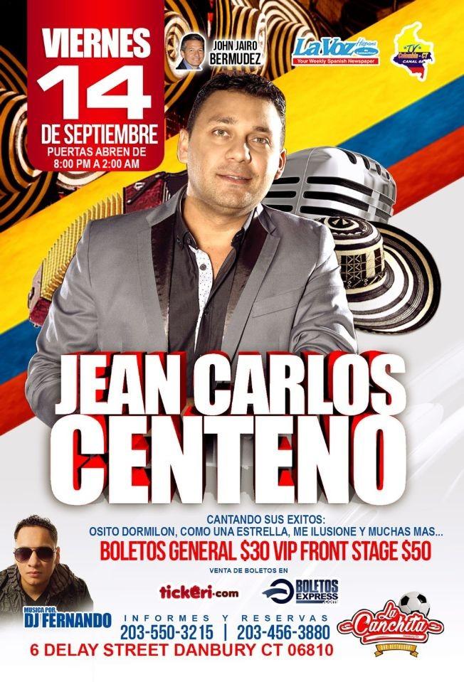 Flyer for Jean Carlos Centeno en Danbury,CT