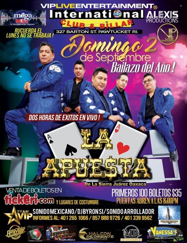Flyer for La Apuesta  En Pawtucket RI.