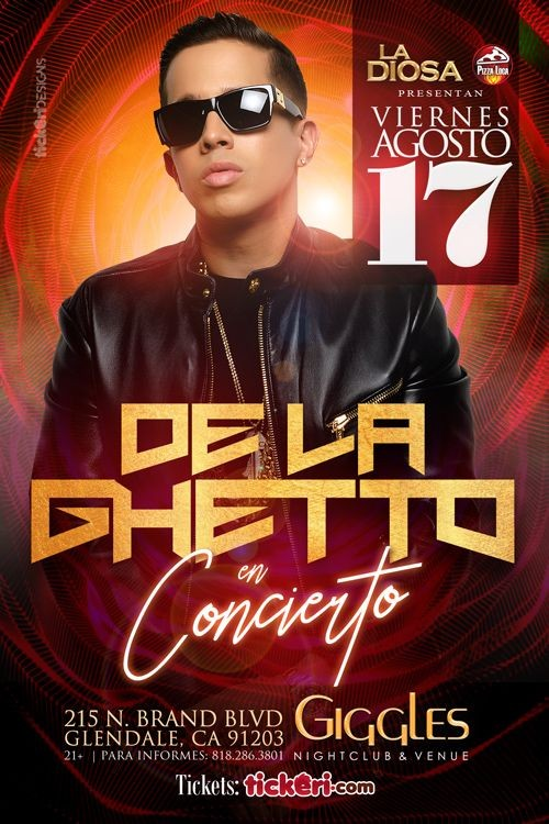 Flyer for DE LA GHETTO EN LOS ANGELES