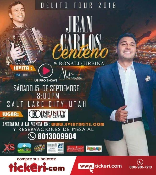 Flyer for Jean Carlos Centeno & Ronald Urbina en Salt Lake City