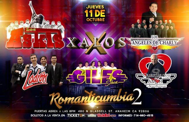 Flyer for Romanticumbia 2 en Anaheim