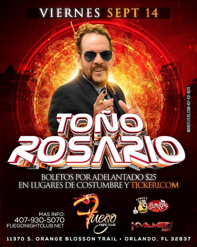 Flyer for Tono Rosario