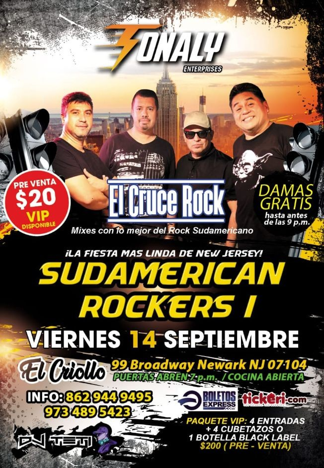 Flyer for SUDAMERICAN ROCKERS I