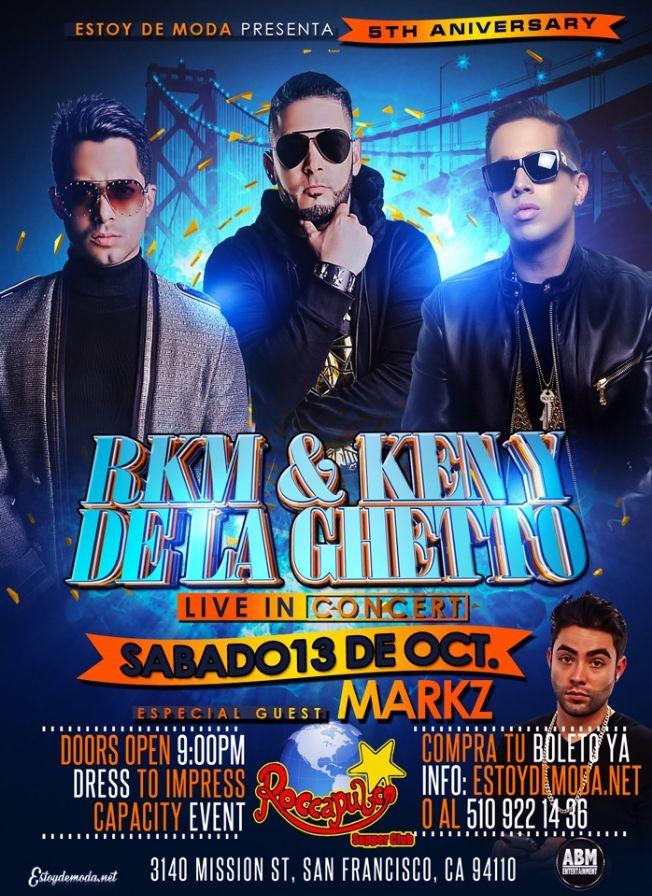 Flyer for RKM & KEN-Y / DE LA GHETTO JUNTOS POR PRIMERA VEZ EN SAN FRANCISCO