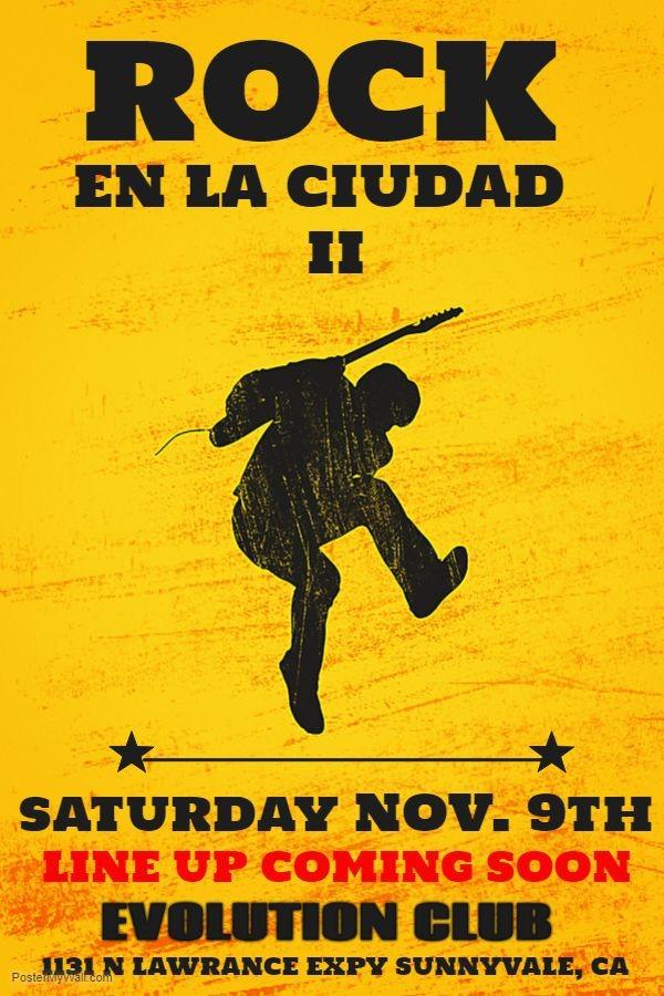 Flyer for ROCK EN LA CIUDAD II (Benefit Concert)