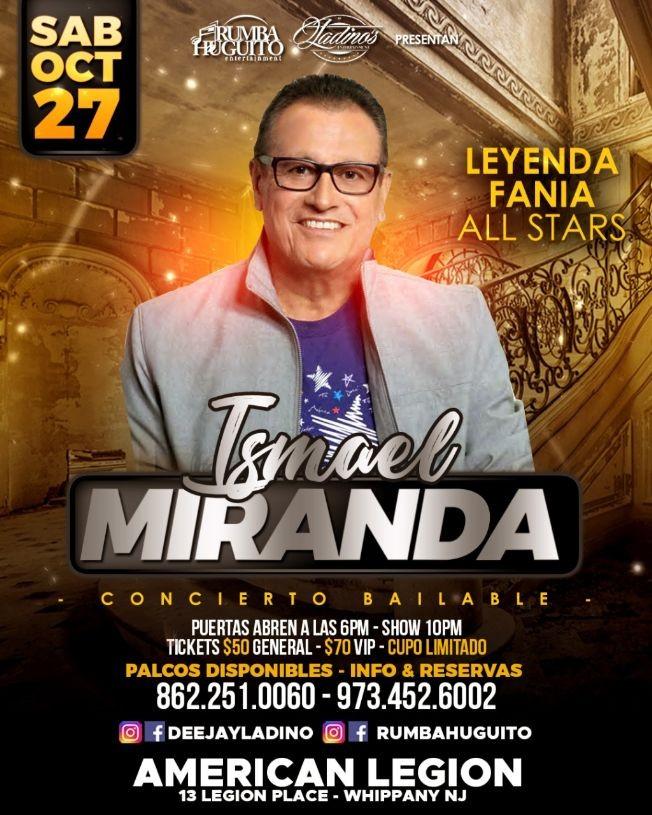 Flyer for Ismael Miranda