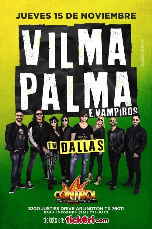 Flyer for Vilma Palma en Dallas