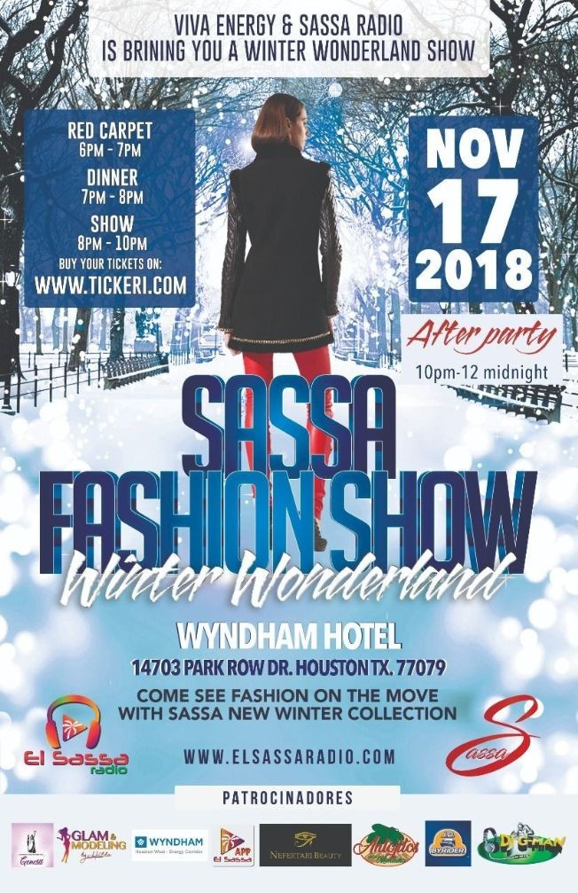 Flyer for Sassa Fashion Show Brought to you by EL Sassa Radio