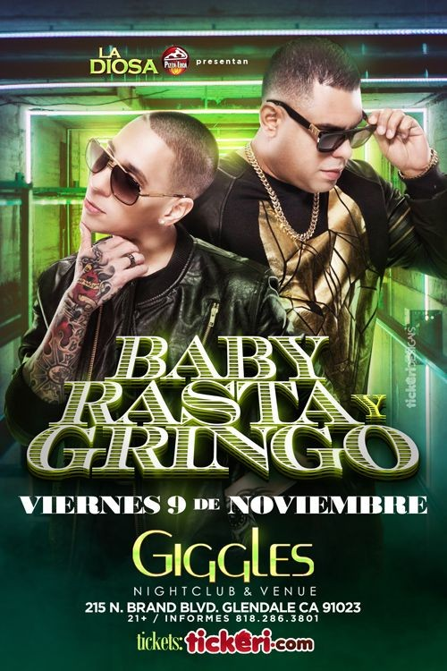 Flyer for BABY RASTA Y GRINGO EN LOS ANGELES
