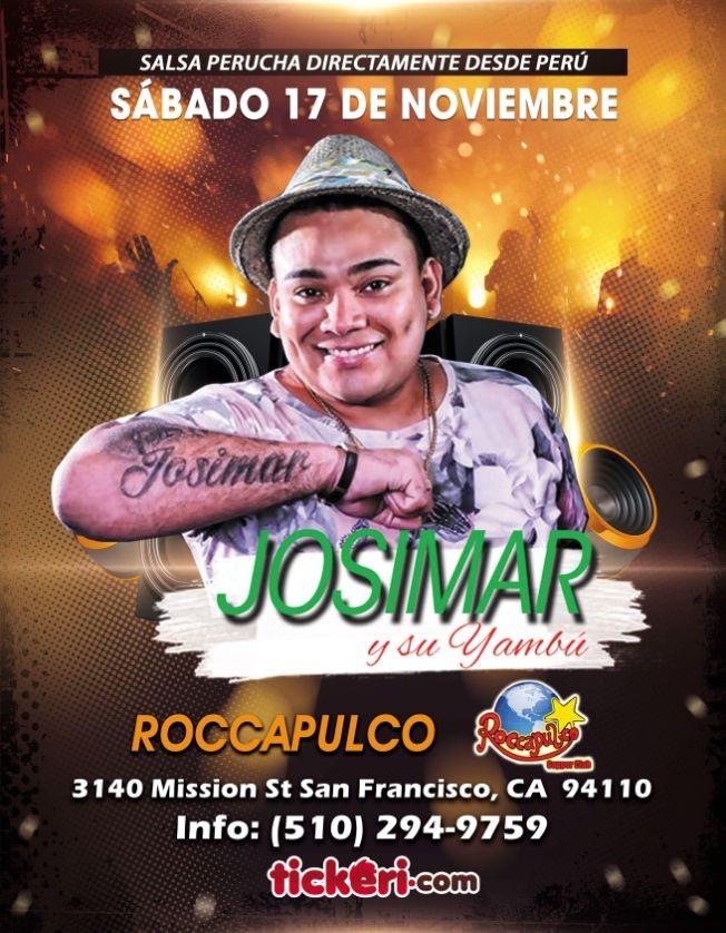 Flyer for Salsa Perucha Josimar y su Yambu