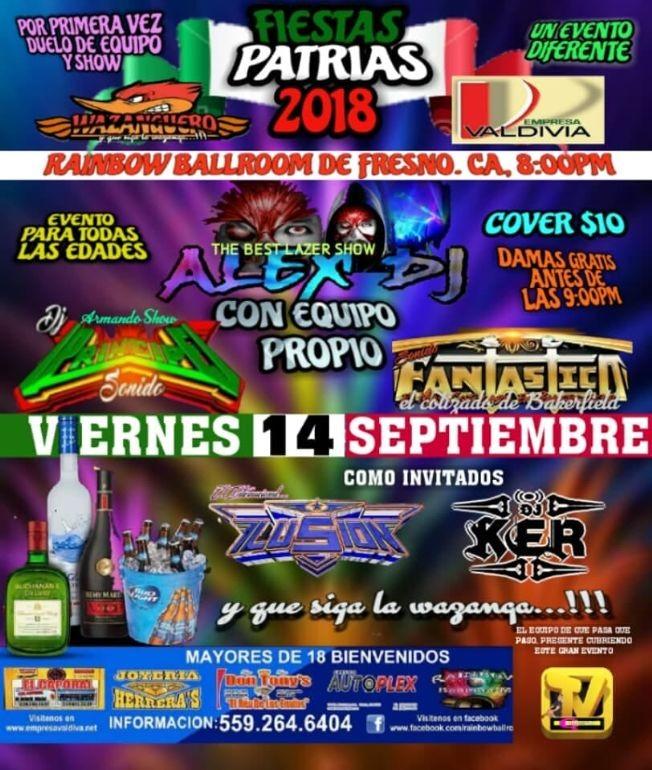 Flyer for Fiestas Patrias En Fresno,CA