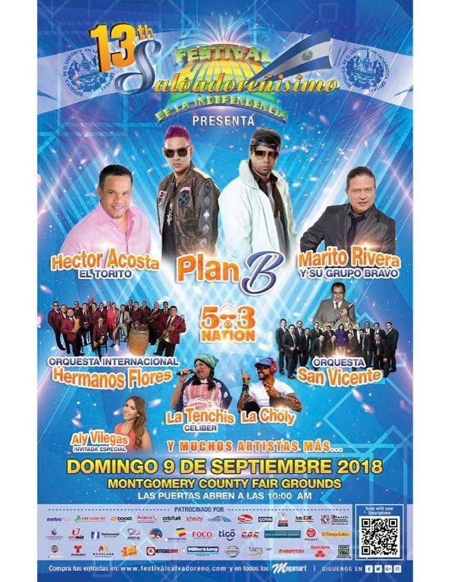 Flyer for 13TH FESTIVAL SALVADORENISIMO  CANCELADO POR MAL TIEMPO.NUEVA FECHA HASTA NUEVO AVISO.