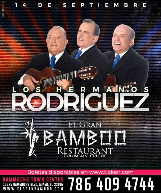 Flyer for LOS HERMANOS RODRIGUEZ