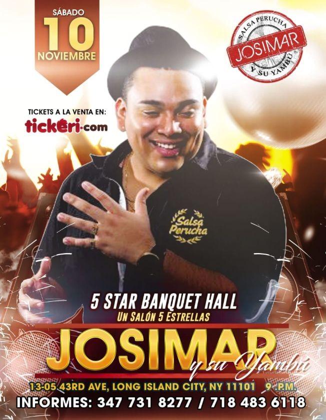 Flyer for Josimar Y Su Yambú En NEW YORK