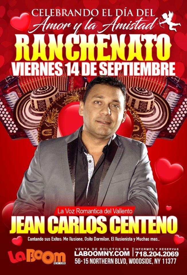 Flyer for Ranchenato con Jean Carlos Centeno En Woodside,NY