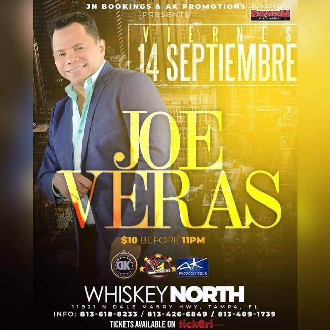 """Flyer for Joe Veras """"El hombre de tu vida"""" En Concierto"""