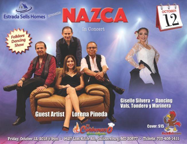 Flyer for NAZCA IN CONCERT • PROGRESSIVE PERUVIAN MUSIC