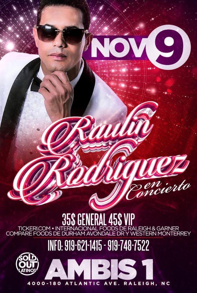 Flyer for RAULIN RODRIGUEZ EN CONCIERTO