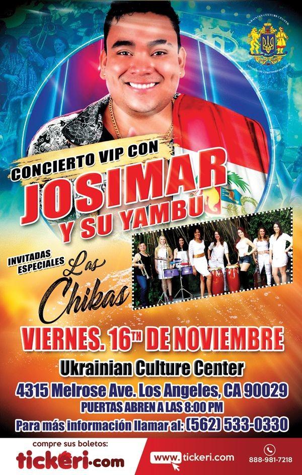 Flyer for Josimar y Su Yambu y Las Chikas