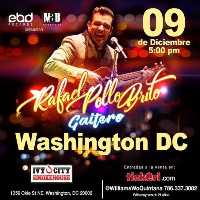 Flyer for Rafael Pollo Brito En Washington,DC