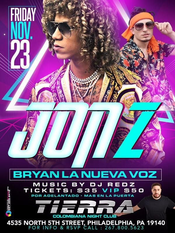 Flyer for (Jon Z) en vivo!