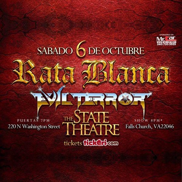 Flyer for Rata Blanca y Evil Terror