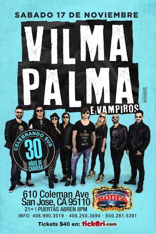 Flyer for Vilma Palma e Vampiros en San Jose,CA