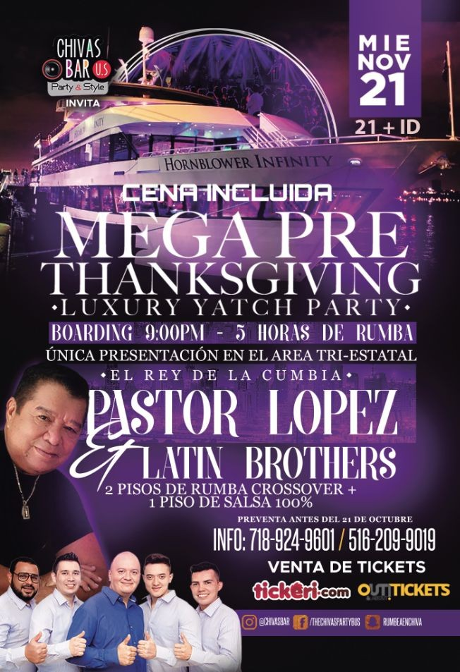 Flyer for Mega Pre-Thankshiving Luxury yatch party!!!