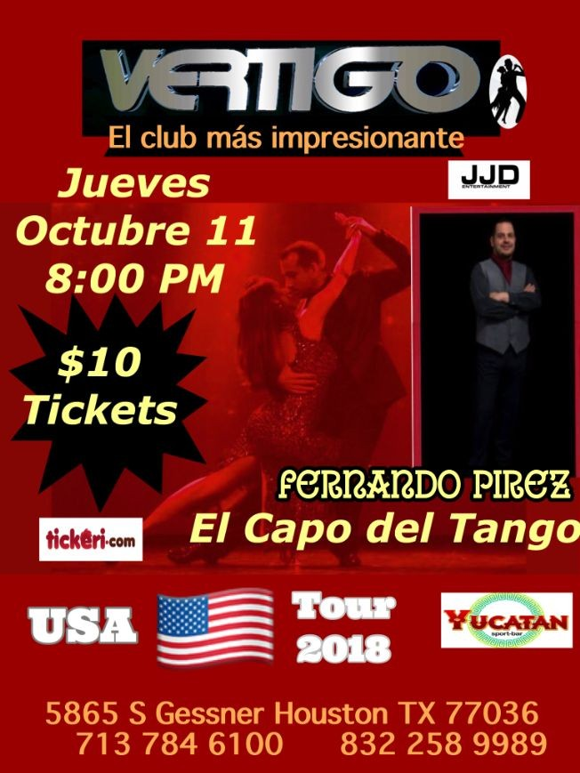 Flyer for Tango -USA TOUR 2018