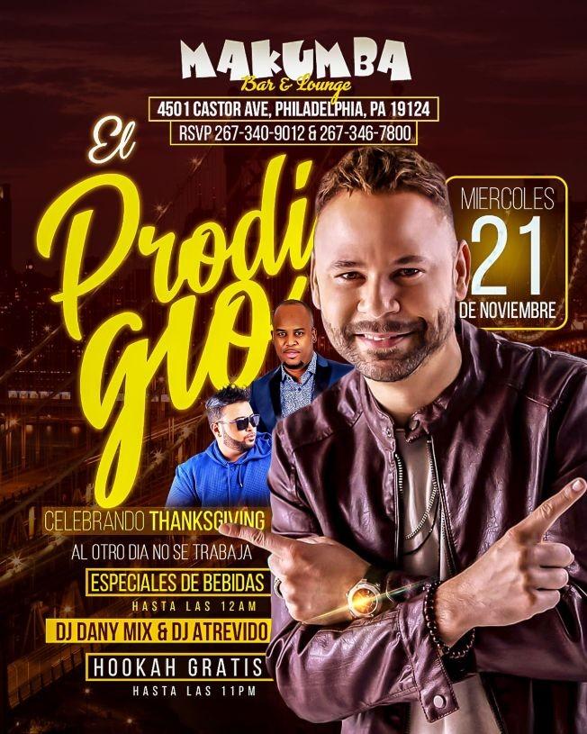 Flyer for El Prodigio En Philadelphia,PA