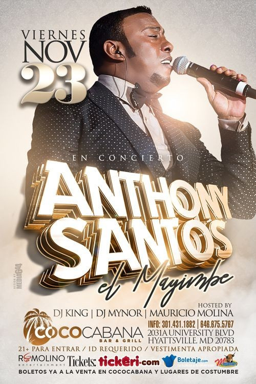 Flyer for Anthony Santos